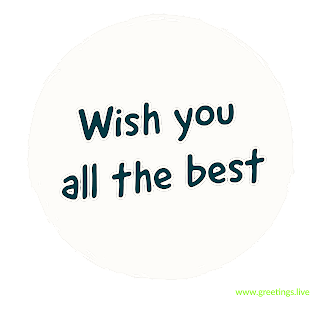Wish you all the best png image Greetings live for students