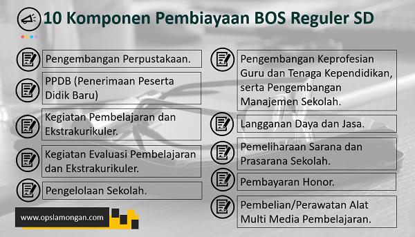 10 Komponen Pembiayaan BOS Reguler SD