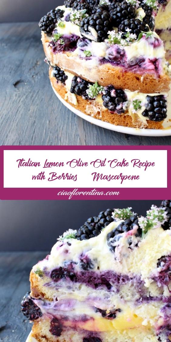 Best Italian Lemon Olive Oil Cake Recipe with Berries