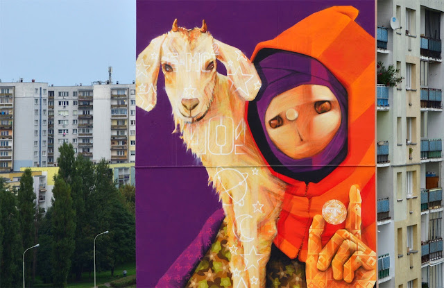 Street Art By Chilean Urban Artist INTI on the streets of Lodz For Fundacja Urban Forms 2013. 2