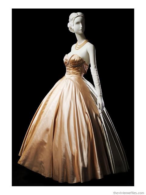 Mainboucher silk strapless evening dress