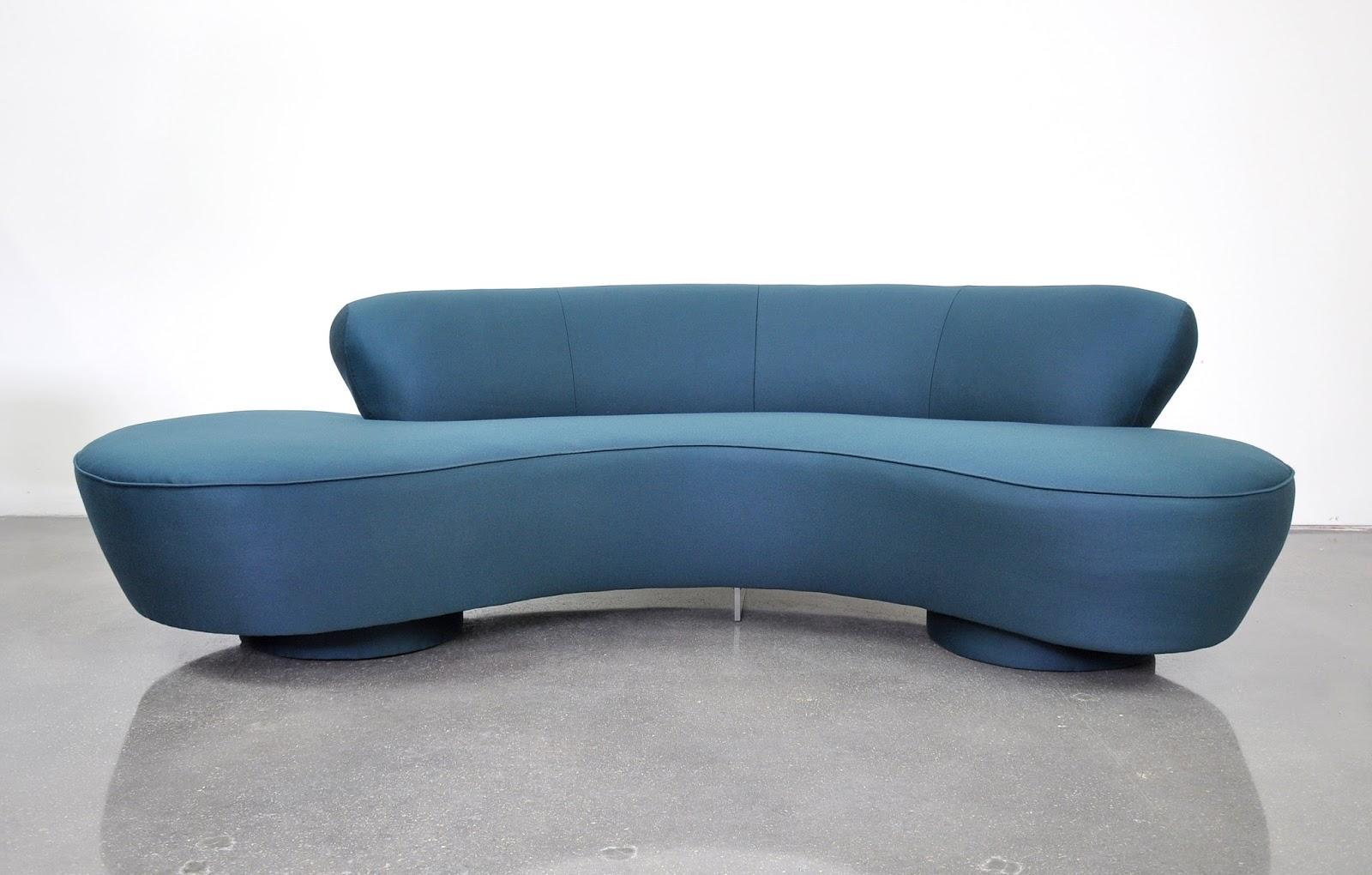 Select Modern Vladimir Kagan Directional Serpentine Sofa