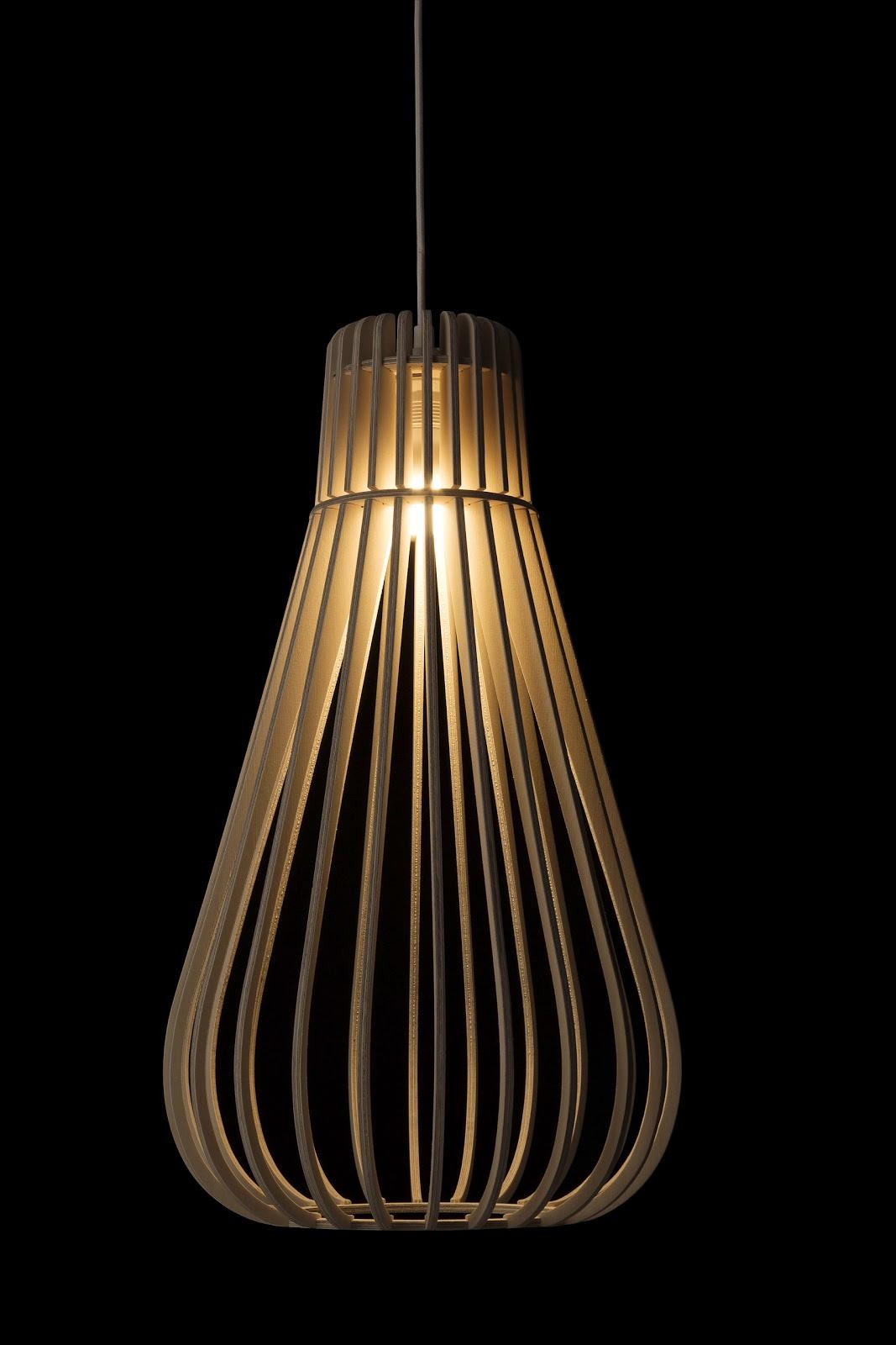 Wood Pendant Light Tendu 600 X 347 Mm Phases Africa