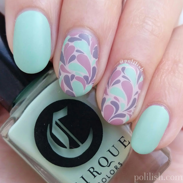 Retro reverse stamping nail art design | polilish