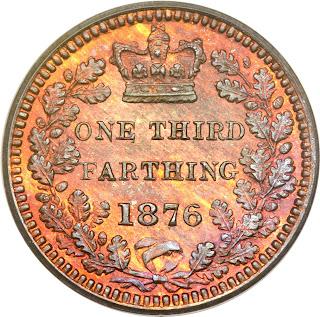 British Coins One Third Farthing