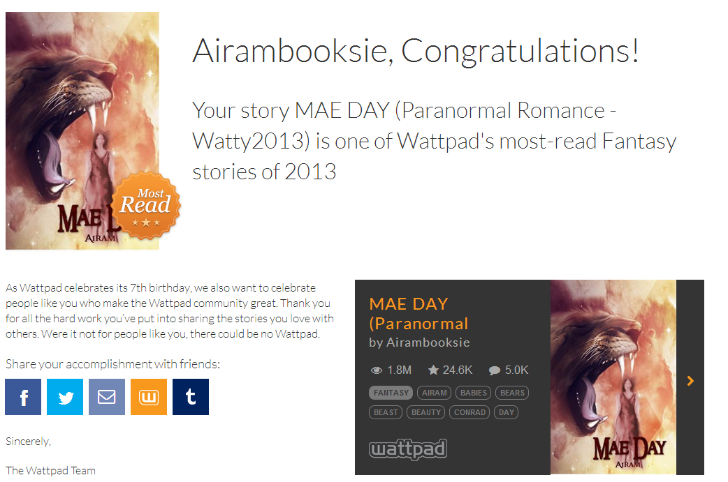 AIRAM (MARIA) - AUTHOR AND BOOK REVIEWER: KISMET - THE STORY