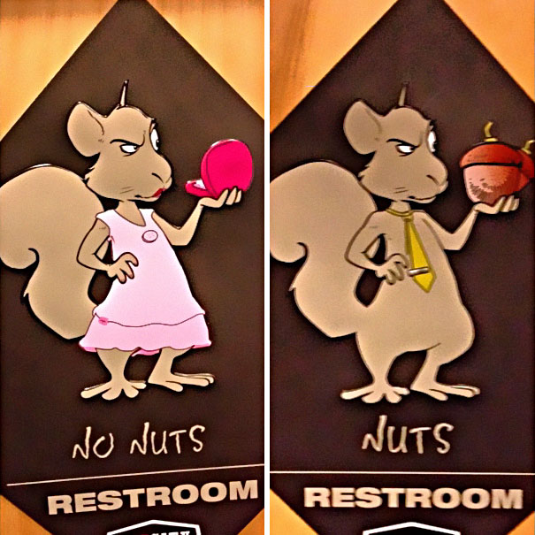 20+ Of The Most Creative Bathroom Signs Ever - No Nuts Vs. Nuts