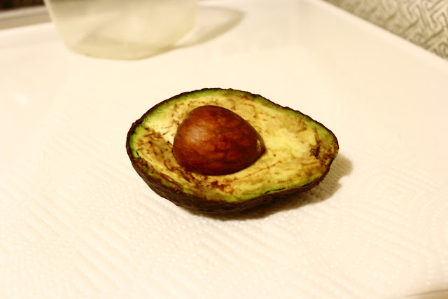 Image of an avocado stored for 2 days