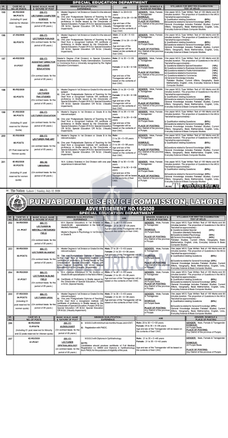 ppsc-lecturer-jobs-july-2020-in-special-education-department
