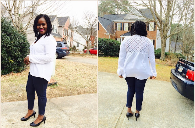 how to wear a simple white blouse