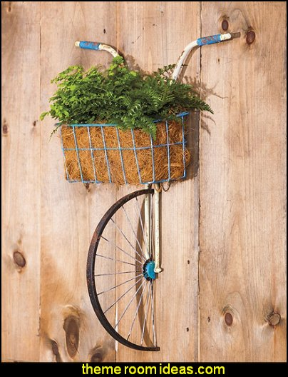 Bicycle Basket Planter Wall Decor