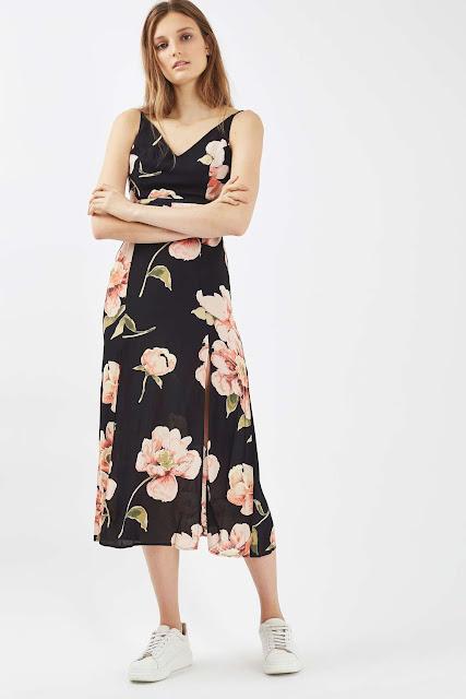 black floral dress topshop, cutout floral dress,