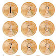 Eiffel Tower Numbered Circles Freebie..