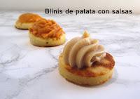 Blinis de patata con salsas