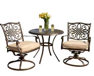 Hanover TRADITIONS 3 Pc Bistro Set