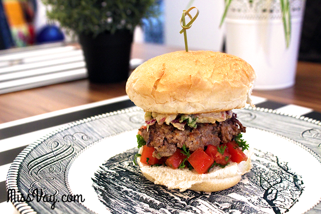 recette burger méditerranéen hummus Sabra