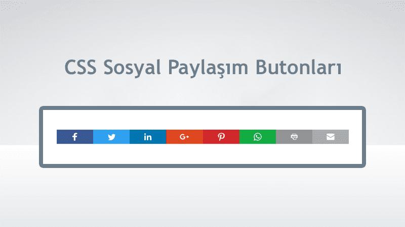 Blog CSS Sosyal Paylaşım Butonları