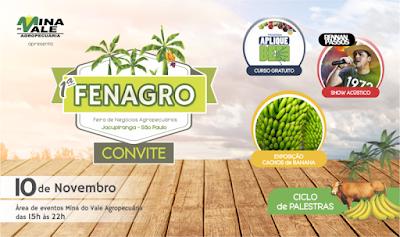 """FENAGRO """"Feira de Agronegócios"""" em Jacupiranga neste 10/11"""