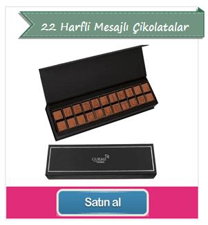 Kişiye Özel Çikolata 22 Karakter