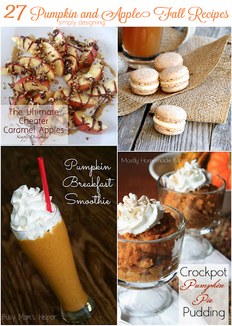 27 Pumpkin and Apple Fall Recipes | #recipes #fall #apples #pumpkins