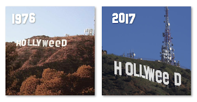 Is The Hollyweed Sign Real? Hollywood 2017 Prank 1976