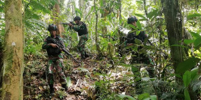 Pos Unggalom Satgas 509 Patroli Keamanan di Perbatasan RI-PNG