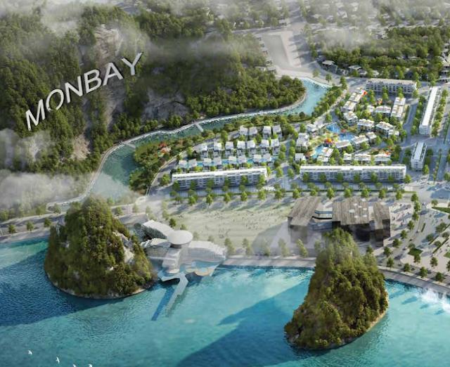 Thế tựa núi của Mon Bay Hạ Long
