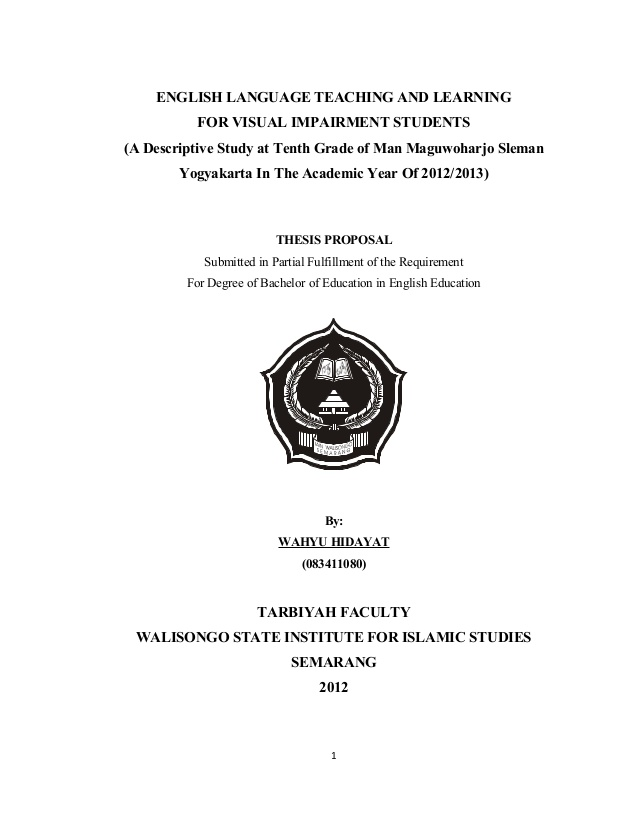 Contoh Proposal Penelitian Kuantitatif