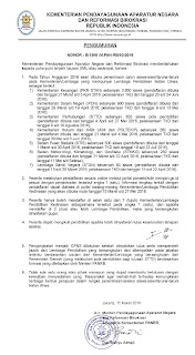 Surat Lampiran Peresmian 7 Sekolah Ikatan Dinas dengan Beasiswa Penuh