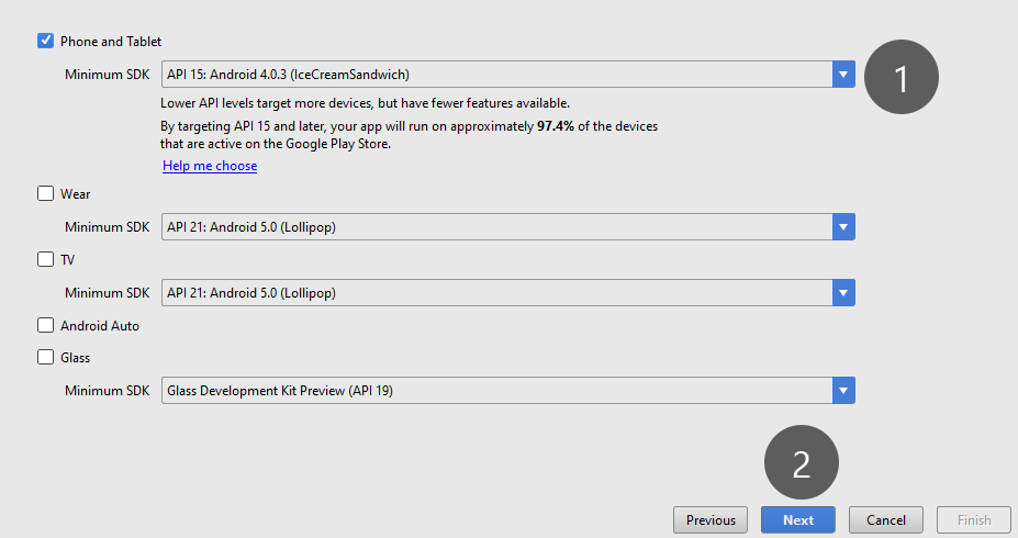 Android Studio Design App Link Different Pages