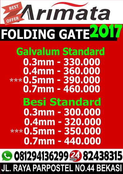 gambar harga folding gate di bogor