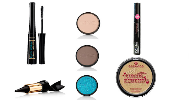 Productos utilizados. Maquillaje para el otoño.