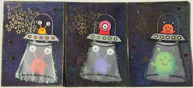 Lawn Fawn Beam me Up / Alien ATC