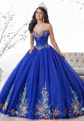 Vestidos de 15 Azul