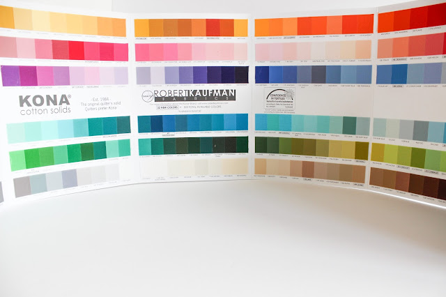 Fabric Color Cards | Ultimate gift guide for the modern quilter in your life | Books, Gift Cards, Tools & Notions are just some of the categories covered in these Christmas gift ideas