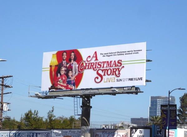 A Christmas Story Live billboard