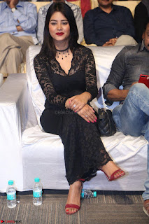 Actress Monica in spicy transparent Black Top at O Pilla Nee Valla Movie Audio Launch Feb 2017 002.JPG