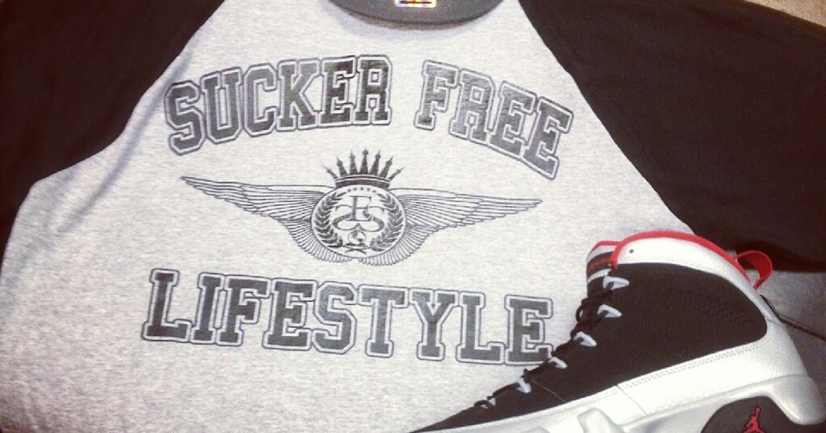 47c00687424 Sucker Free Lifestyle tee designed for Nike Air Jordan Retro 9 IX