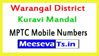 Kuravi Mandal MPTC Mobile Numbers List Warangal District in Telangana State