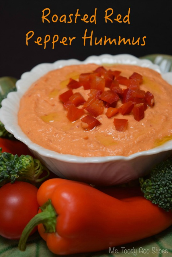 Roasted Red Pepper Hummus | Ms. Toody Goo Shoes