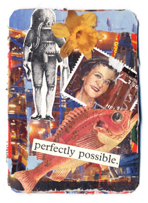 collaged artist trading cards