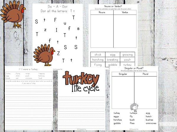 thanksgiving kindergarten worksheets for first grade and 2nd grade too