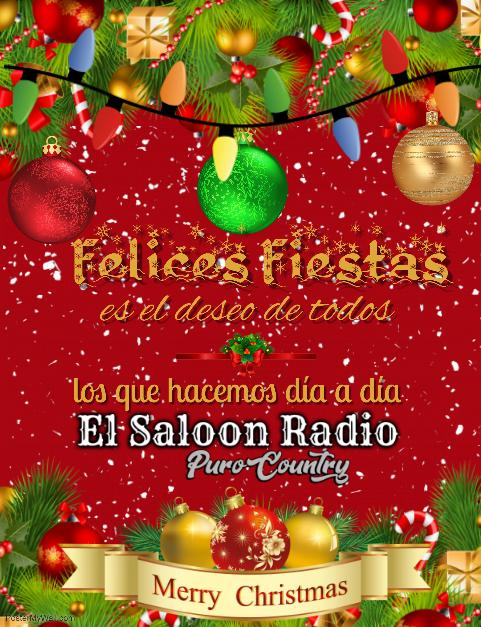 Mensaje de El Saloon Radio para estas Fiestas.