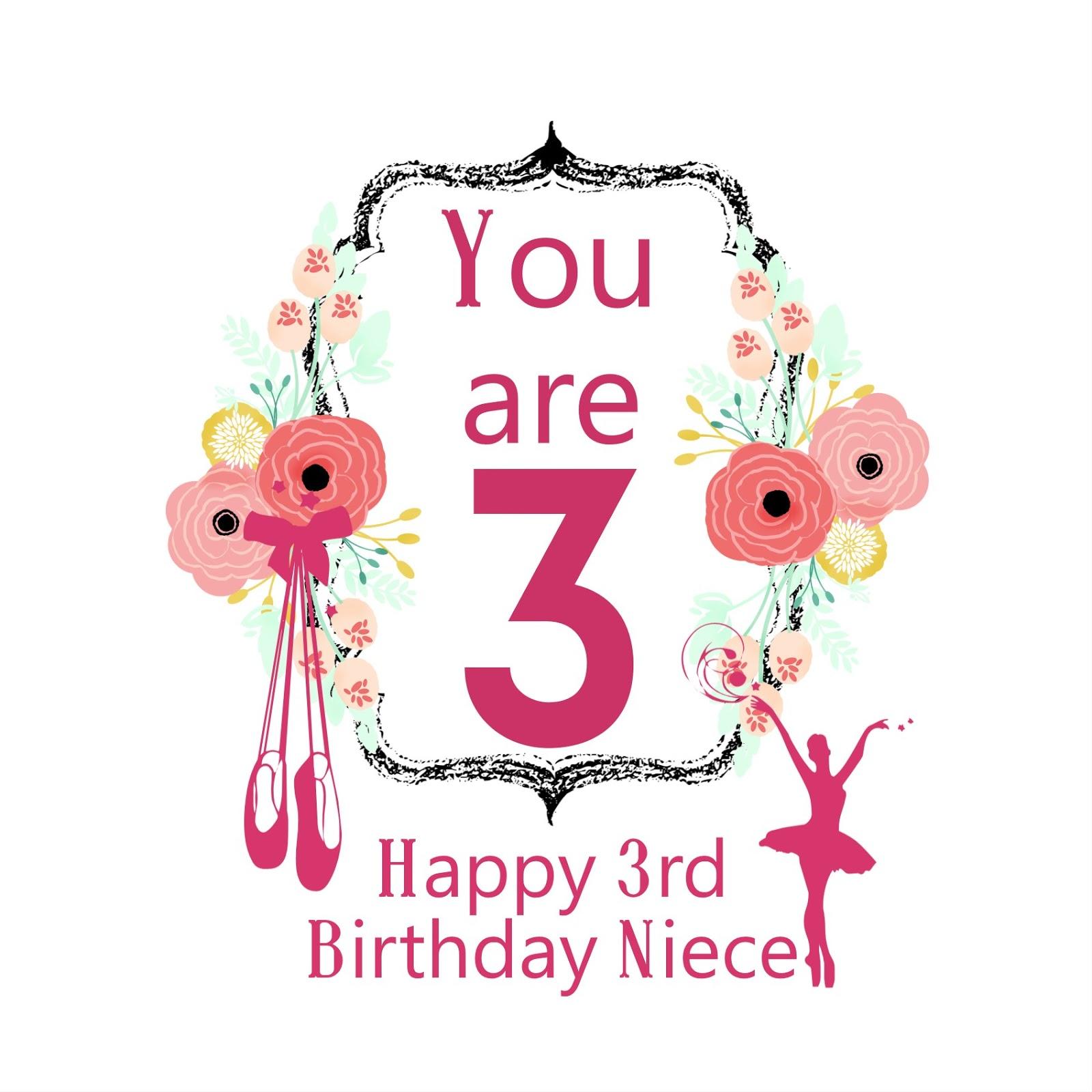 Free Printable Happy 3rd Birthday Niece