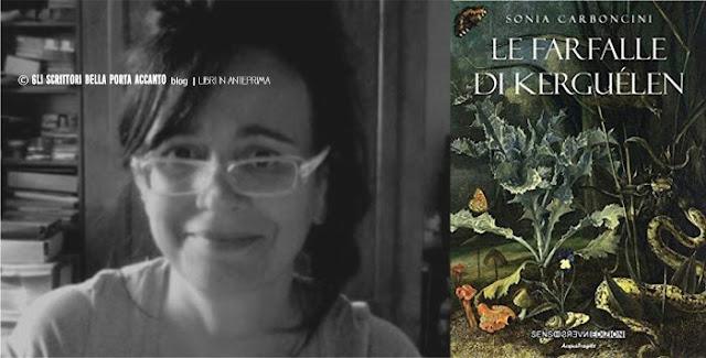 """Sonia Carboncini presenta """"Le farfalle di Kerguélen"""" - Foto copertina e autore"""