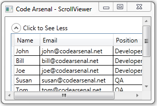 WPF ScrollViewer Control Example - Code Arsenal
