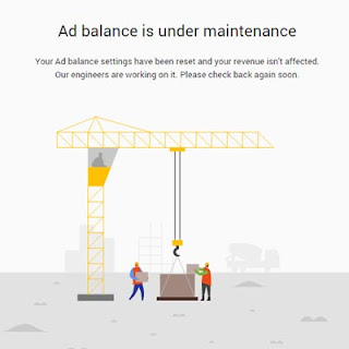 Ad balance is under maintenance