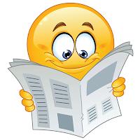 Läser en dagstidning