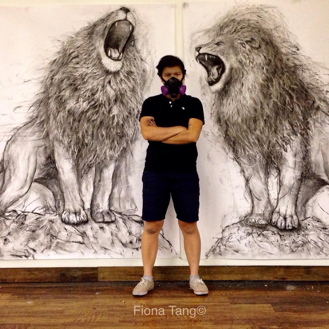 13-Lions-Fiona-Tang-2D-Sketches-that-Become-3D-Animals-www-designstack-co