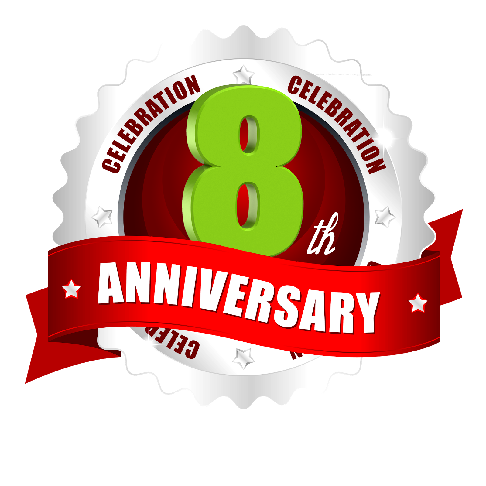 8th anniversary latest png vector logo template free